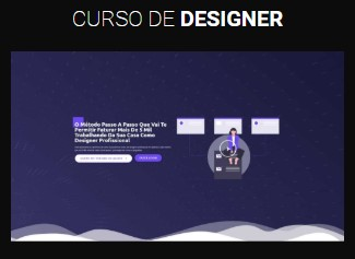 modelo página de vendas curso de designer