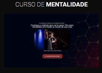 modelo página de vendas curso de mentalidade