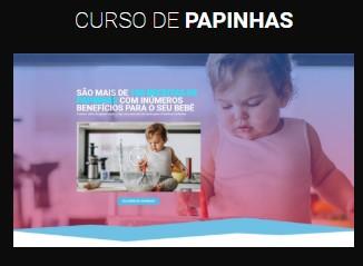 modelo página de vendas curso de papinha