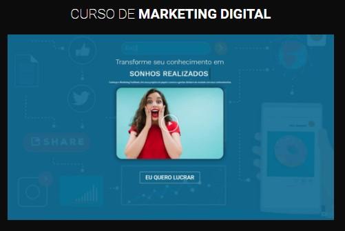 modelo página de vendas curso marketing digital