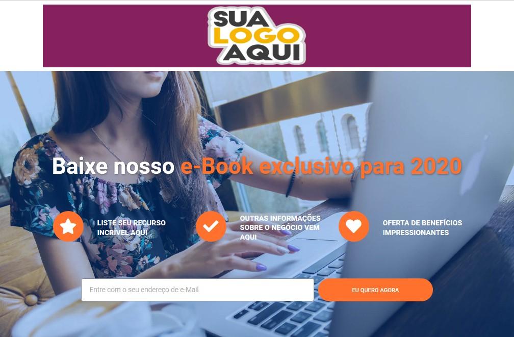 modelo página de vendas inscrição gratuita
