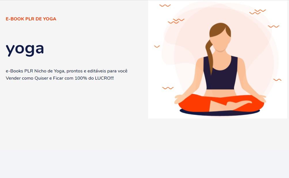 modelo página de vendas yoga